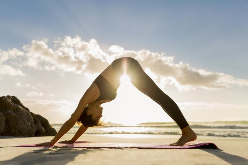 yoga by beach
